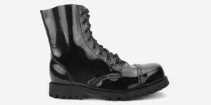 Underground Original Steel Cap Stormer black patent leather combat boot for men and women