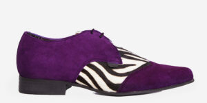 Underground England Paul Winklepicker grey and purple suede shoe for men and women