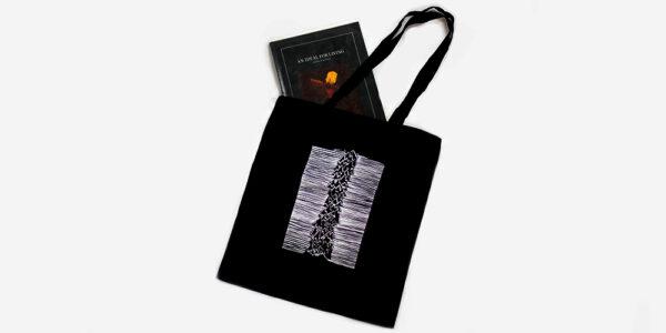 UNDERGROUND TOTE BAG – JOY DIVISION 'UNKNOWN PLEASURES' – BLACK