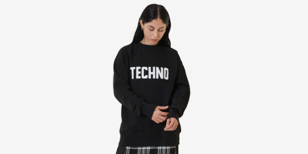 Undeground England techno Sweatshirt in black and white for men and women