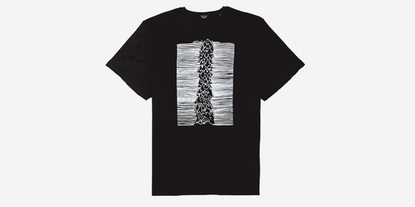 Underground England Unknown pleasures t-shirt black and white for men and women