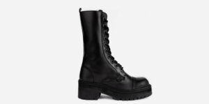 UNDERGROUND LEX CHUNKY BOOT – BLACK LEATHER – CUSTOM MADE COMBAT BOOTS FOR MEN AND WOMEN