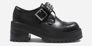 UNDERGROUND LEX CHUNKY KIT BOW SHOE – BLACK LEATHER – CUSTOM MADE SHOES FOR MEN AND WOMEN