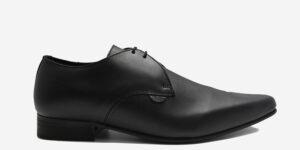 Underground England Paul Winklepicker black leather shoe for men and women