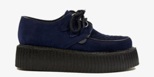 Underground Original Wulfrun Creeper navy suede shoe for men and women