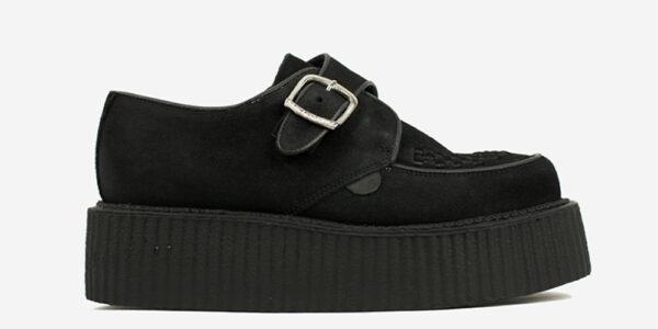 Underground Original King Tut Creeper black suede buckle shoe for men and women