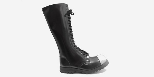 External Steel Cap Boot - Black Leather