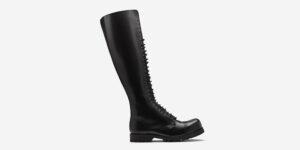 Underground Original Steel Cap Para Black leather knee length combat boot for men and