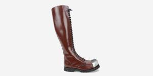 Underground Original external Steel Cap Para cherry leather knee length combat boot for men and