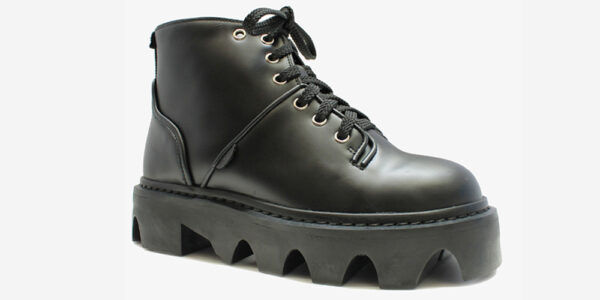 UNDERGROUND DOGSTAR – JUNGLE BOOT – BLACK LEATHER BOOTS FOR MEN AND WOMEN