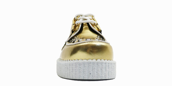 Underground Original Wulfrun Creeper gold mirror leather shoe for men and women