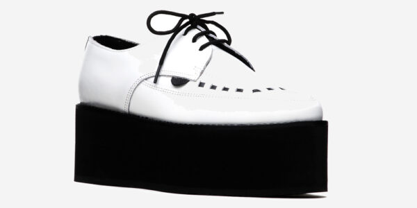 UNDERGROUND BARFLY CREEPER – WHITE LEATHER – TRIPLE SOLE – CUSTOM MADE FOR MEN AND WOMEN