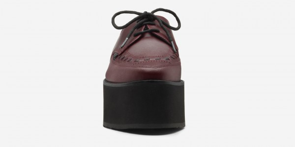 UNDERGROUND BARFLY CREEPER – BURGUNDY LEATHER – TRIPLE SOLE – CUSTOM MADE SHOES FOR MEN AND WOMEN