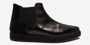 UNDERGROUND METEOR – ANKLE CHELSEA BOOT – BLACK LEATHER & PONY HAIR – CUSTOM MADE FOR MEN AND WOMEN