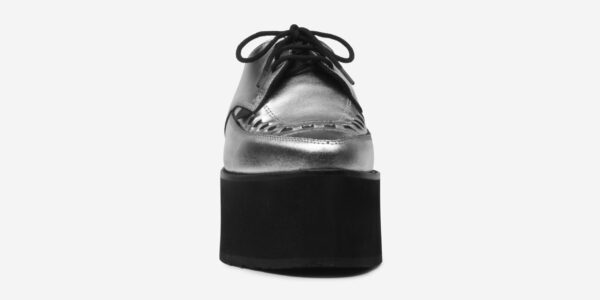 UNDERGROUND BARFLY CREEPER – SILVER LEATHER – TRIPLE SOLE – CUSTOM MADE SHOES FOR MEN AND WOMEN