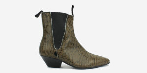 Underground England Freddy natural python print boot for men and women