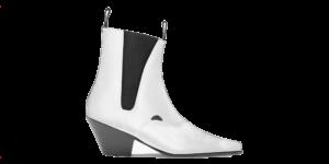 Underground England Fred Winklepicker white grain leather boot for men and women