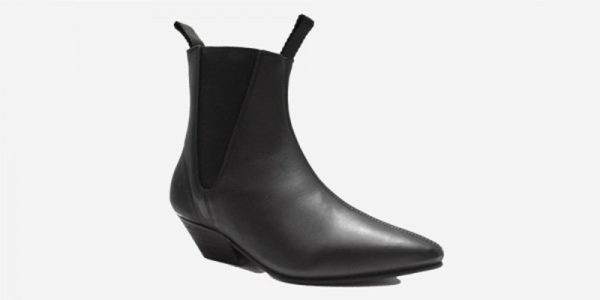 Underground England Beatle Winklepicker black grain leather boot for men and women