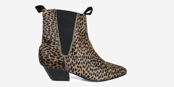 Underground England Fred Winklepicker leopard print pony hair boot for men and women