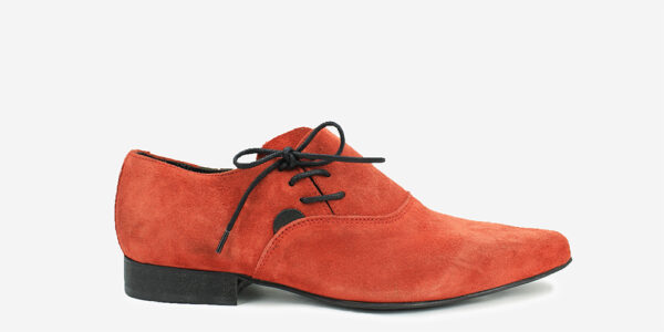 HENRY WINKLEPICKER SIDE LACE-UP SHOE – RED SUEDE – Shoes for men and women