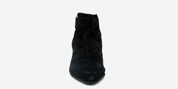 UNDERGROUND WINKLEPICKER ANKLE BOOT – BLACK SUEDE – BOOTS FOR MEN AND WOMEN