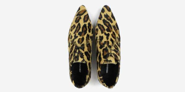 Underground England Paul Winklepicker large leopard print pony hair shoe for men and women