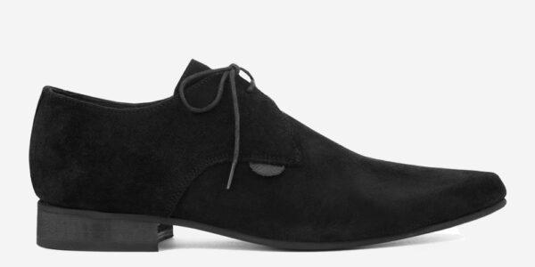 Underground England Paul Winklepicker black suede shoe for men and women