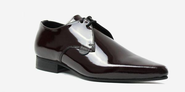 Underground England Paul Winklepicker patent burgundy black shoe for men and women