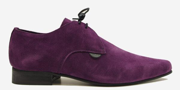 Underground England Paul Winklepicker purple suede shoe for men and women