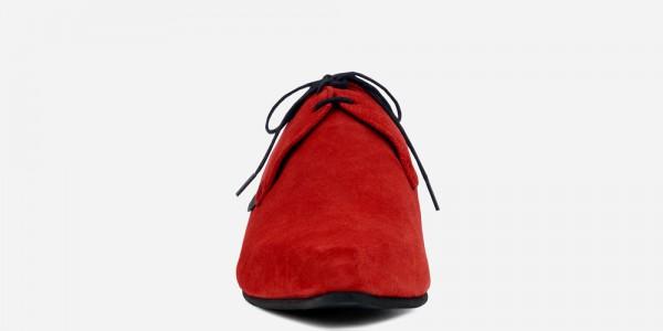 Underground England Paul Winklepicker red suede shoe for men and women