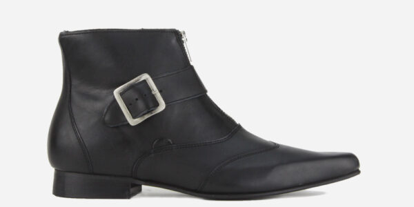 Underground England George Winklepicker black grain leather single strap boots for men and women