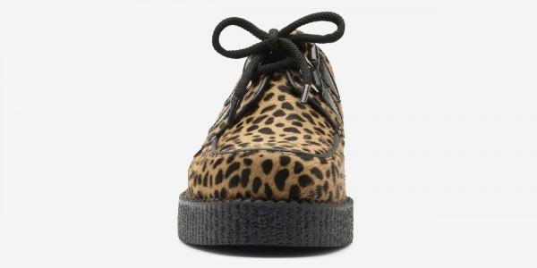 Underground Original Wulfrun Creeper cappuccino leopard print pony hair shoe for men and women
