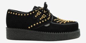 Underground Original Wulfrun Creeper black suede and gold studs shoe for men and women