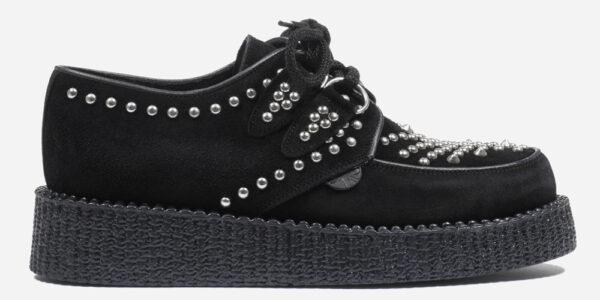 Underground Original Wulfrun Creeper black suede and silver studs shoe for men and women