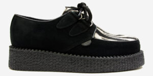 Underground Original Wulfrun Creeper black suede and zebra print pony hair shoe for men and women
