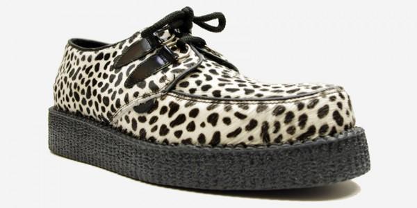 Underground Original Wulfrun Creeper leopard print pony hair shoe for men and women