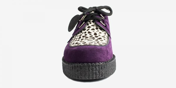 Underground Original Wulfrun Creeper purple suede and leopard print pony hair shoe for men and women