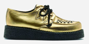 UNDERGROUND ORIGINAL WULFRUN CREEPER – GOLD LEATHER – SHOES FOR MEN AND WOMEN