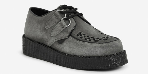 Grey suede Wulfrun Creeper