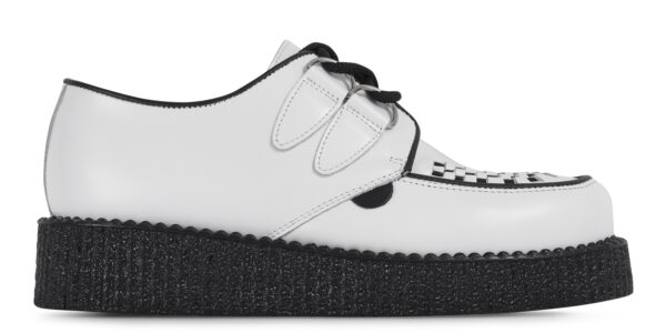 UNDERGROUND ORIGINAL WULFRUN CREEPER – WHITE LEATHER – SHOES FOR MEN AND WOMEN