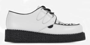 Underground England Original Wulfrun Creeper white leather single sole for men and women