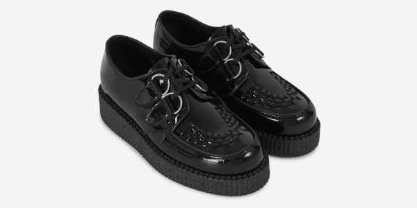 UNDERGROUND ORIGINAL WULFRUN CREEPER – BLACK PATENT LEATHER – SHOES FOR MEN AND WOMEN