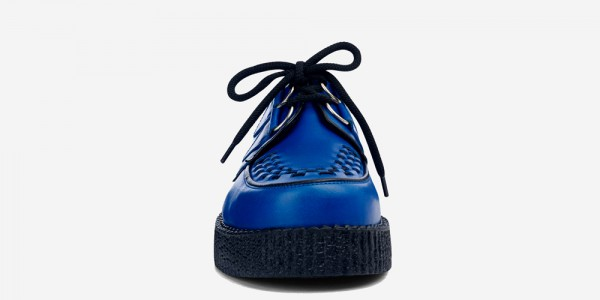 UNDERGROUND ORIGINAL WULFRUN CREEPER – ROYAL BLUE LEATHER – SHOES FOR MEN AND WOMEN