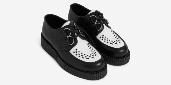black and white leather wulfrun creeper
