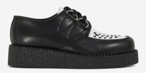 black and white leather wulfrun creeper