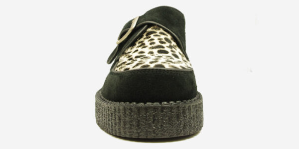 UNDERGROUND KING TUT CREEPER – BLACK SUEDE & LEOPARD PRINT PONY HAIR – SHOES FOR MEN AND WOMEN