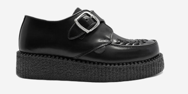 UNDERGROUND KING TUT BUCKLE SHOE – ORIGINAL CREEPER – BLACK LEATHER – SHOES FOR MEN AND WOMEN