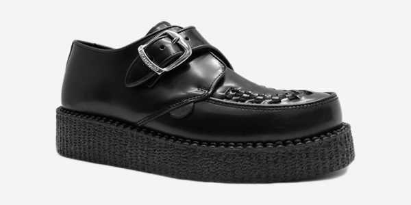 UNDERGROUND KING TUT – ORIGINAL CREEPER BUCKLE SHOE – BLACK LEATHER – SHOES FOR MEN AND WOMEN