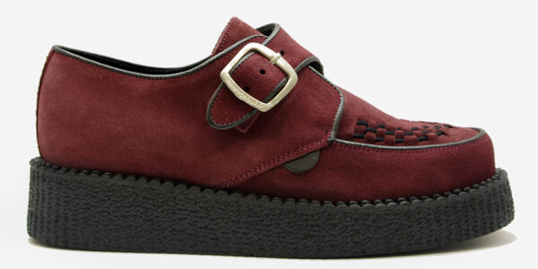 UNDERGROUND KING TUT CREEPER BUCKLE SHOE – BURGUNDY SUEDE – SHOES FOR MEN AND WOMEN
