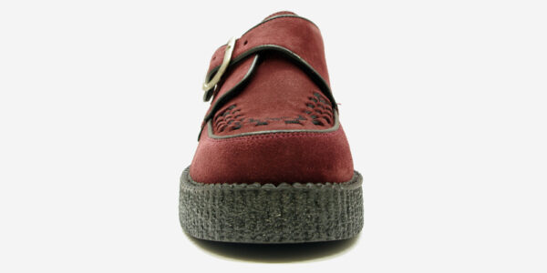 ORIGINAL KING TUT CREEPER BUCKLE SHOE – BURGUNDY SUEDE – SHOES FOR MEN AND WOMEN